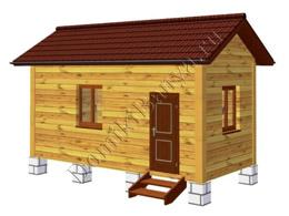 Дом из бруса 3х6 №2
