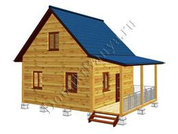Дом из бруса 6х8 №24