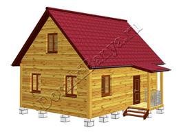 Дом из бруса 6х8 №36
