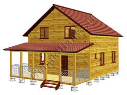 Дом из бруса 7.5x10 №75